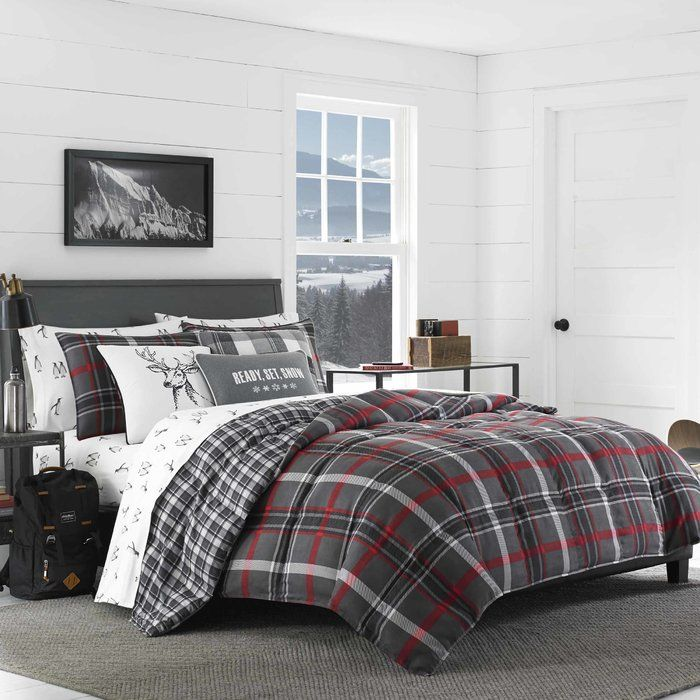 Bed Bath And Beyond Flannel Sheets Prepossessing Willow Plaid Comforter Set  Home  Pinterest  Comforter Dorm And Room Inspiration Design