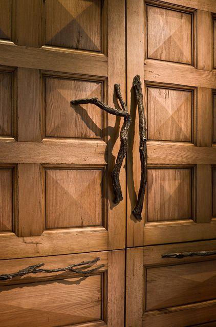 Rustic Twig Door Handles Kitchen Cabinets Pulls Tree Branch Drawer Dresser Knob Set Of 4