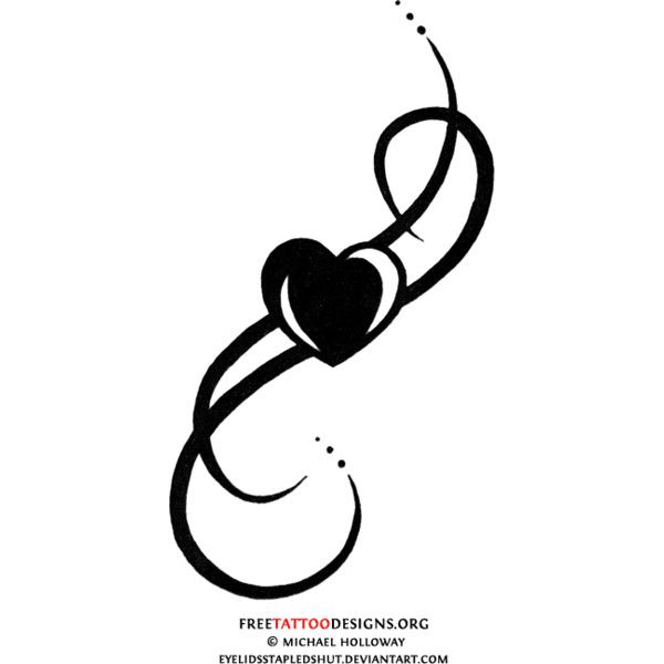 Tattoo Designs Liked On Polyvore Tribal Heart Tattoos Black Heart Tattoos Sacred Heart Tattoos