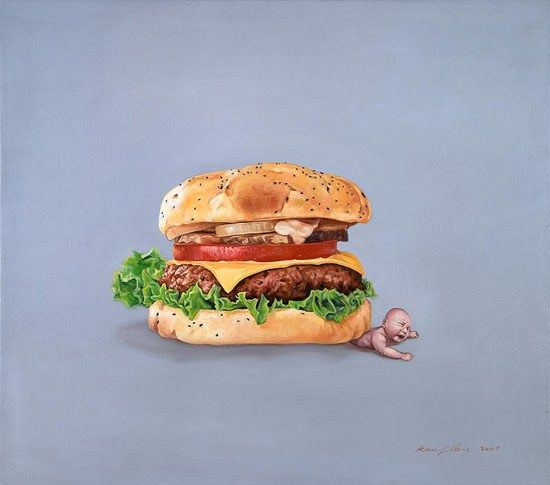 Fast Food Oil Painting By Chinese Artist Kang Can In 2019