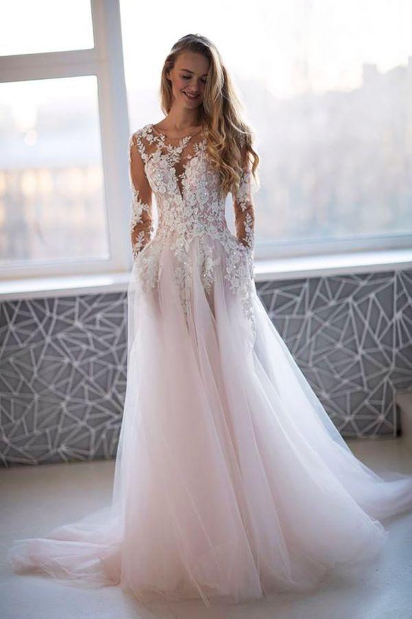 Vestidos Novia Lorie Princesa Vestido Novia Vestidos De Novia Vestido Novia Manga Larga Vestidos De Novia Largos