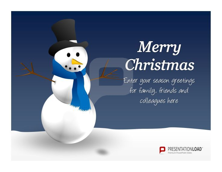 Free Christmas Ppt Templates Let It Snow Let It Snow Let It Snow