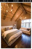 great bedroom. I love the beamed ceiling!