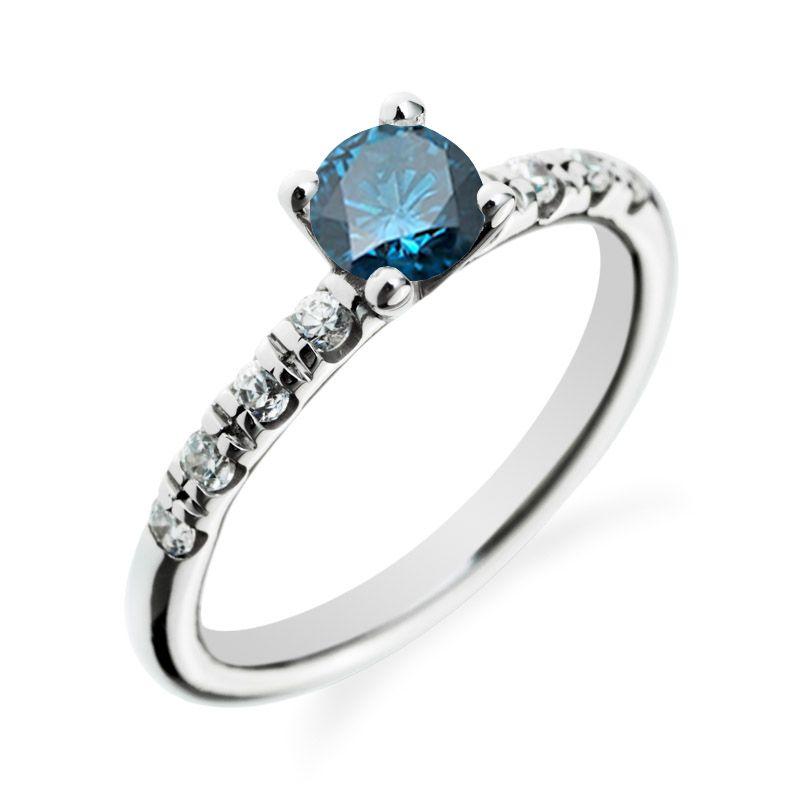 Zasnubni Prsten S Modrym Diamantem Slaky Pretty Sparkly Stuff