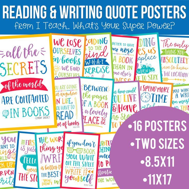 Reading And Writing Quotes Posters Bundle In School Brights Quote Posters Writing Quotes Reading Writing