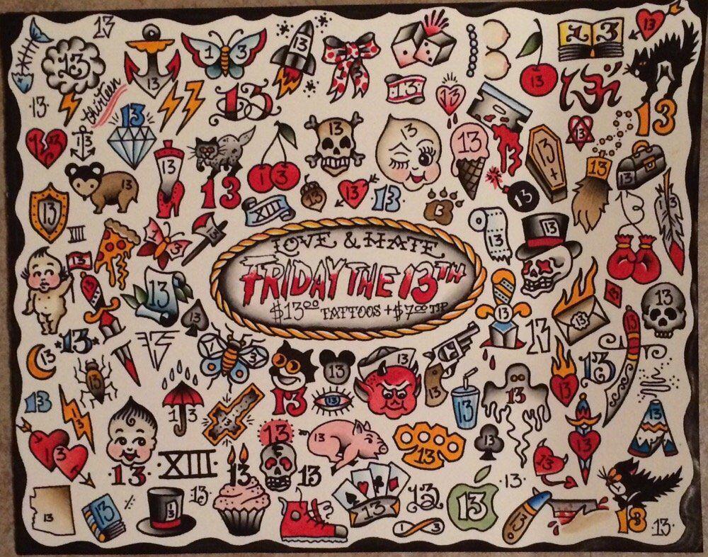 Friday the 13th tattoos best 3d tattoo ideas pinterest for Friday the 13th tattoos michigan