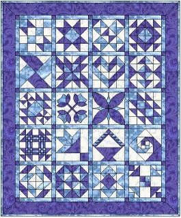 Singing the Blues - Free Block of the Month Quilt Patterns ... : sampler quilt block patterns - Adamdwight.com