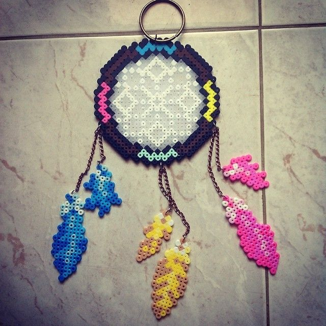 Dreamcatcher perler beads by craft for Dreamcatcher beads meaning