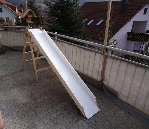 Holz Rutsche Mit Treppe Furs Wohnzimmer Selber Bauen Spiele Spielzeug Basteln Pool Slide Diy Diy Slides Backyard Projects