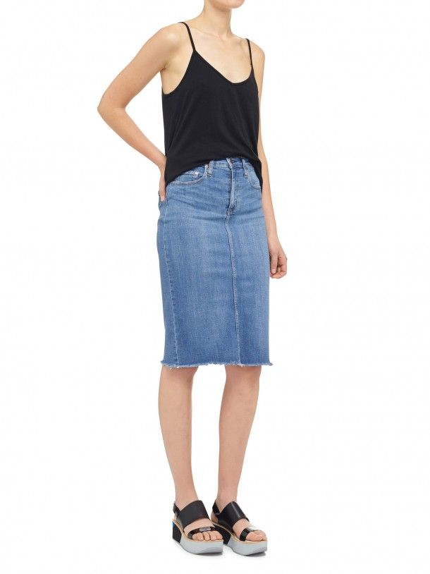 NOBODY - Cult Longline Pencil Skirt