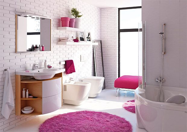 Bathroom with color details - very variable :)