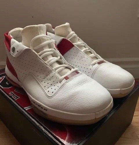 90ceb52a4e99 Air Jordan Retro XVI 16 Low Varsity Red Black White 136069-101 Size ...