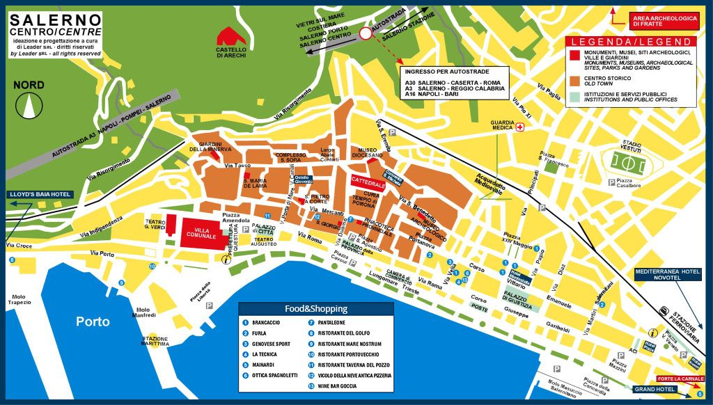 Show Me A Picture Of A Map Download Map Of Salerno City Centre
