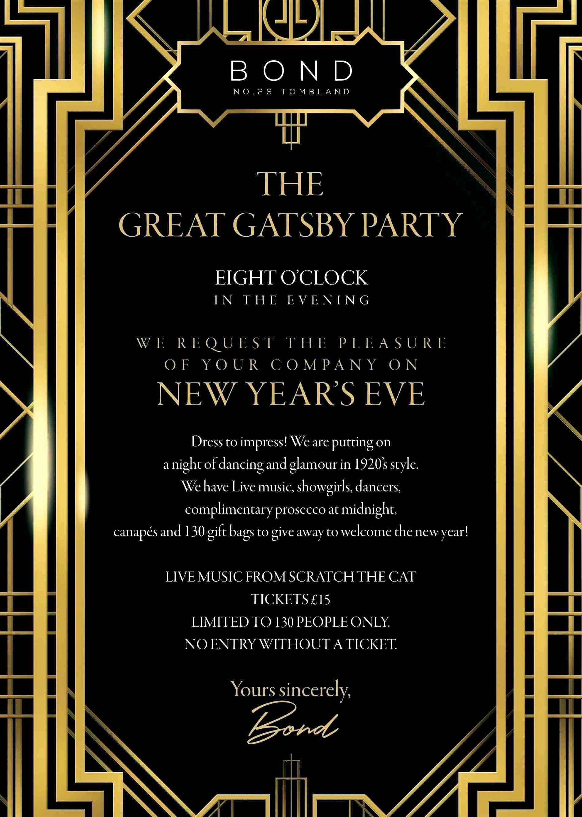 Great Gatsby Party Invitation Templates Beautiful Great Gatsby Party Invitation Template Free Gatsby Invitations Great Gatsby Invitation Party Invite Template