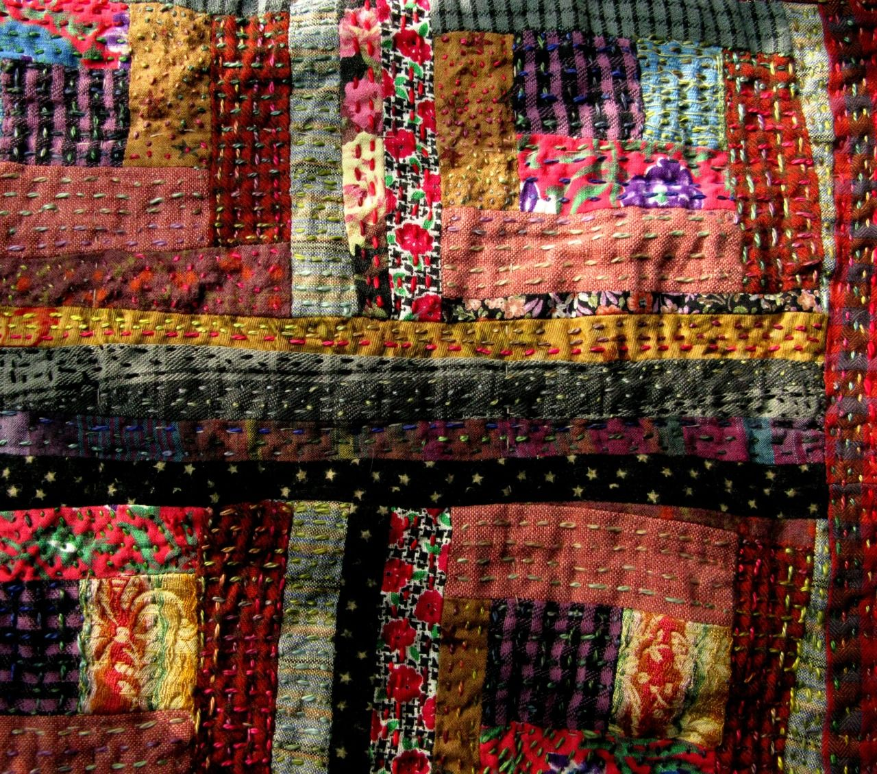 Recycled Quilts Quilt Kaleidoscope Log Cabin Pineapple