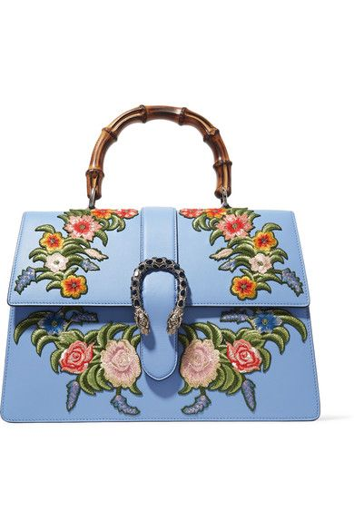 0854b740e Sky-blue leather (Calf) Push clasp-fastening front flap This style is made  with natural bamboo and as such may have small indentations Weighs  approximately ...