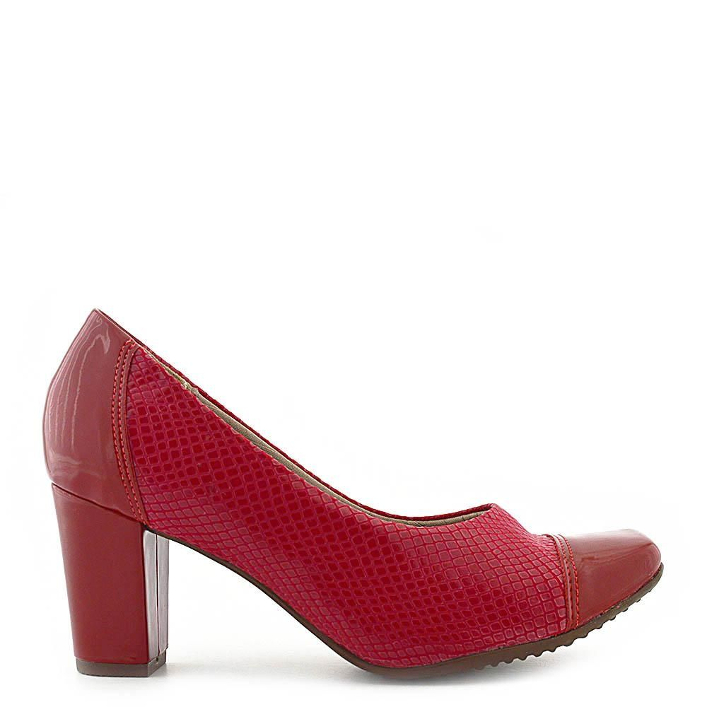 fcb8790b81 Sapatos Femininos Salto Piccadilly Verniz   Elastano Merlot - Vermelho