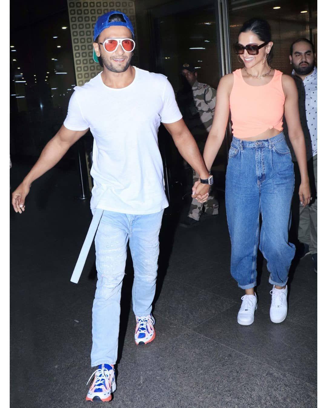 Hand In Hand And Much In Love Deepveer Return To Mumbai From Their Dreamy Vacation Hungryboo Deepika Ranveer Ranveer Singh Deepika Padukone