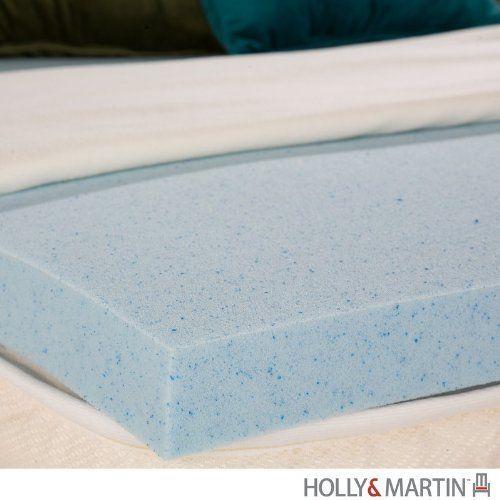 Holly Martin Perugia Memory Foam Gel Full 2 Inch By Holly Martin 179 99 Size 2 H X 53 W X 73 D Color Memory Foam Mattress Foam Mattress Memory Foam