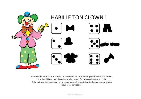 Habille ton clown r gle du jeu ecole carnaval - Jeux de clown tueur gratuit ...