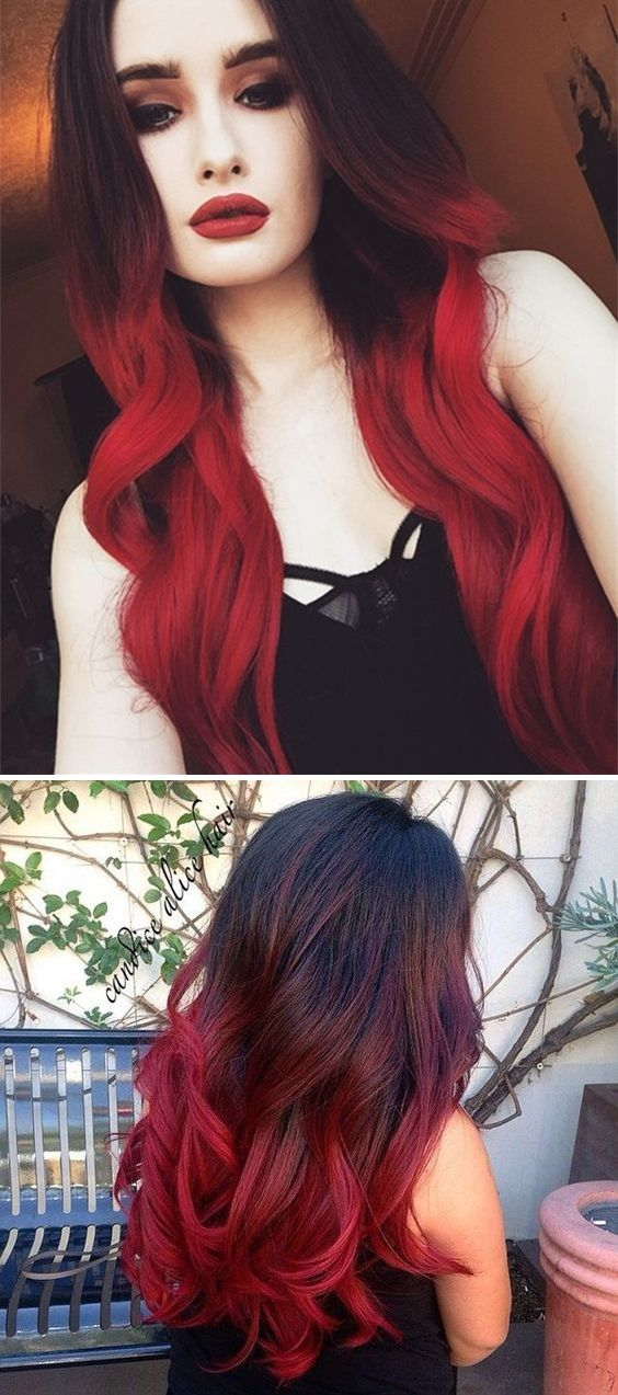 Brown To Red Ombre Hair Styles Trendy Hair Color Red Ombre Hair