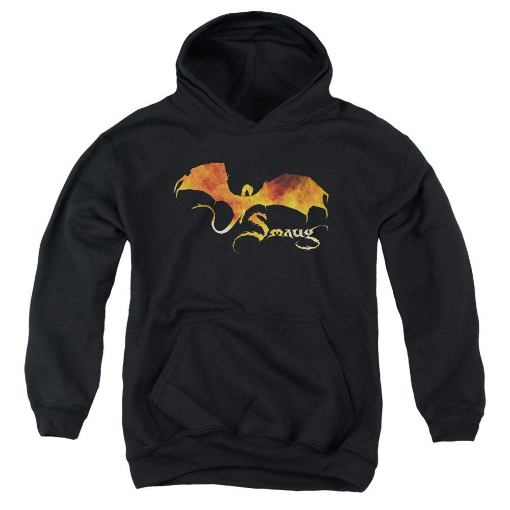 Hobbit - Smaug On Fire Youth Pull-Over Hoodie