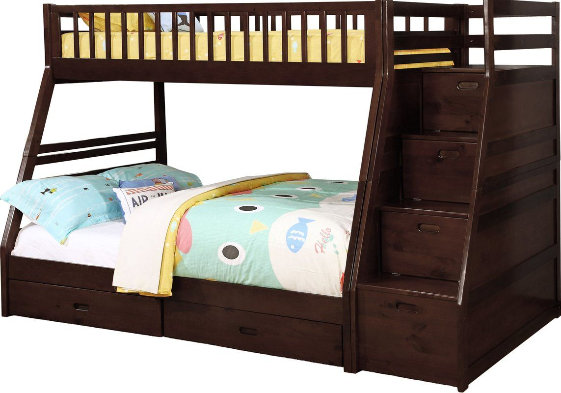 Best Pierre Twin Over Full Bunk Bed With Storage Bunk Beds 640 x 480