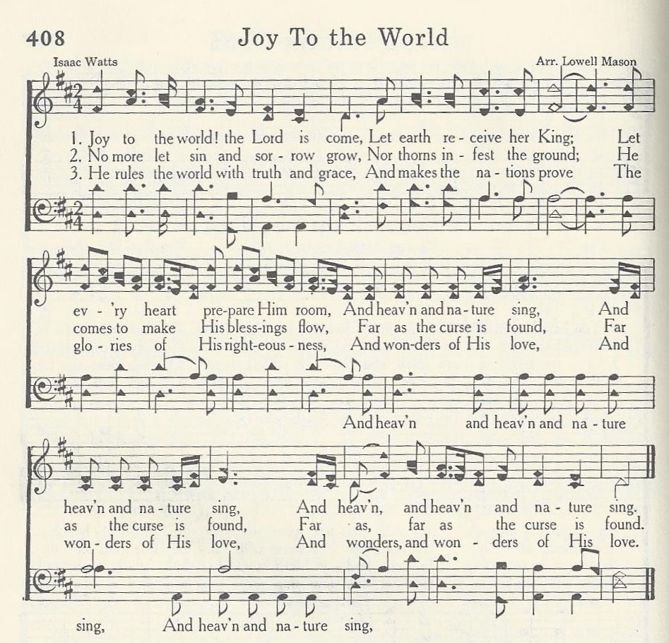 Joy to the World | Christmas songs lyrics, Bible songs, Christian songs