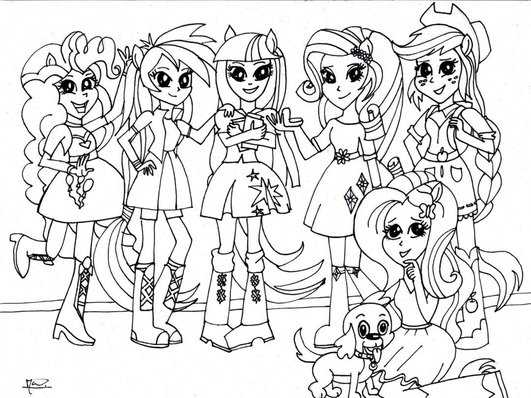 Coloring Pages Of My Little Pony Equestria : Coloring page my little pony equestria girls kleurplaat