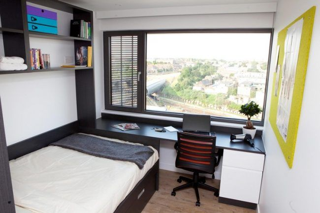 Studentenzimmer Einrichten 10qm Studentenwohnung Schwarz Weiß Einrichtung  Pinnwand