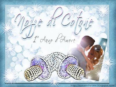 Anniversario Matrimonio 1 Anno.Nozze Di Cotone 1 Anno Insieme Virtual Card Anniversario Di