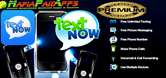TextNow free text calls Premium Unlocked Apk for Android TextNow