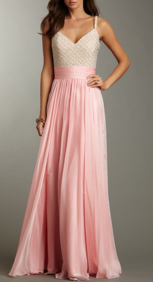 Beaded Petal Pink Gown / La Femme: Imagine this gorgeous dress with ...