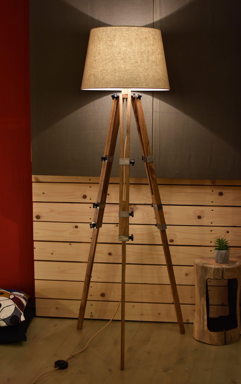 Tripod Lamp Floor Lamp Big Lamp Led Lamp Bedroom Decor Etsy Big Lamp Tripod Floor Lamps Wooden Floor Lamps