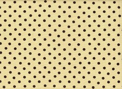 Moda Little Black Dress Dot Cotton Tan