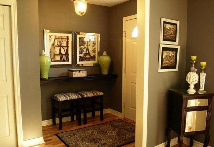 hauseingang dekorieren ideen f r eine charmante einrichtung hauseingang flur gestalten und. Black Bedroom Furniture Sets. Home Design Ideas