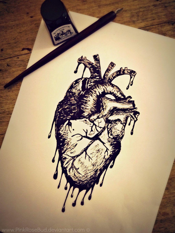 Xombiidesigns 39 S Deviantart Favourites Bleeding Heart Tattoo