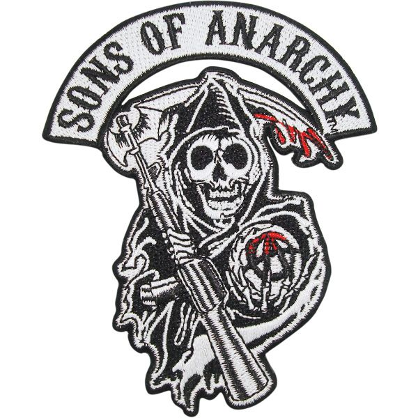 Sons Of Anarchy Reaper Logo Patch Sons Of Anarchy Iron On Applique Applique Patch