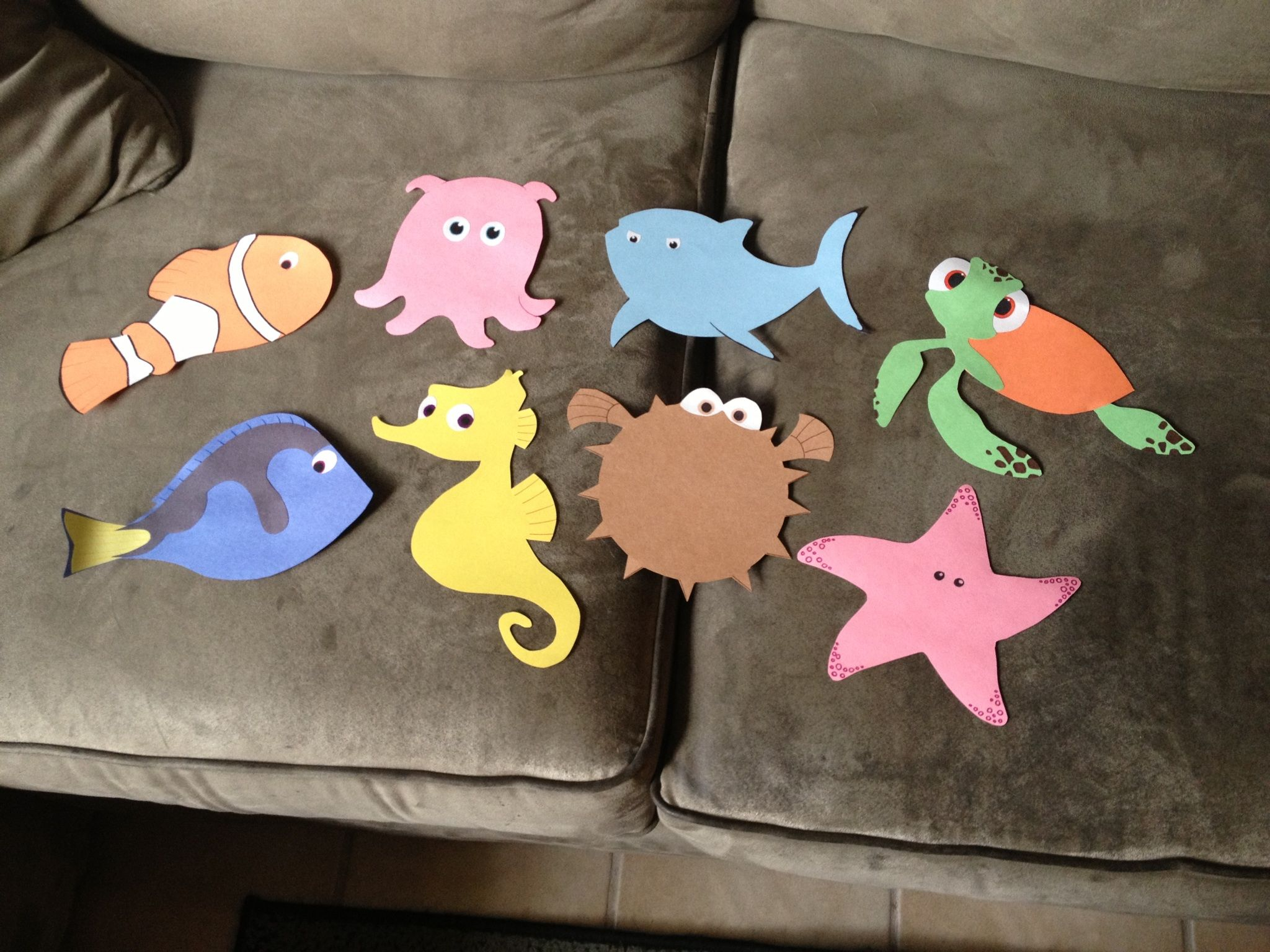 My finding nemo door decs i might regret this once i have for Nemo decorations