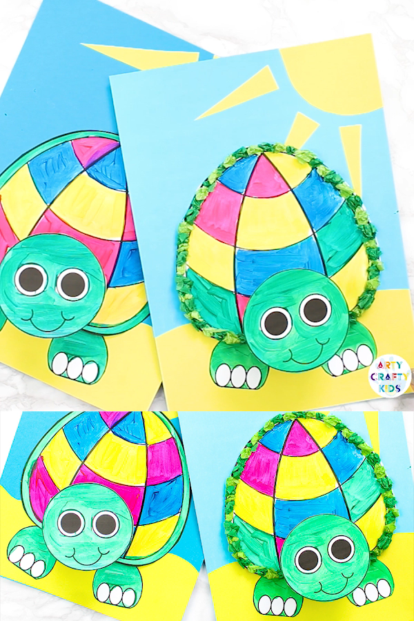 Printable Paper Turtle Craft for Kids