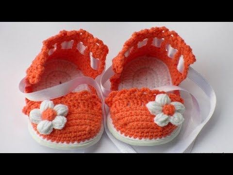 06eb5225a Crochet Baby Sandals Free Pattern - YouTube