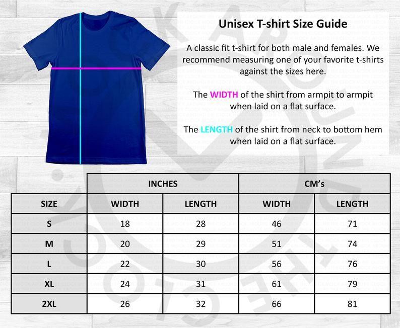 Gildan Adult Size Guide Chart Table Shirt JPEG Download