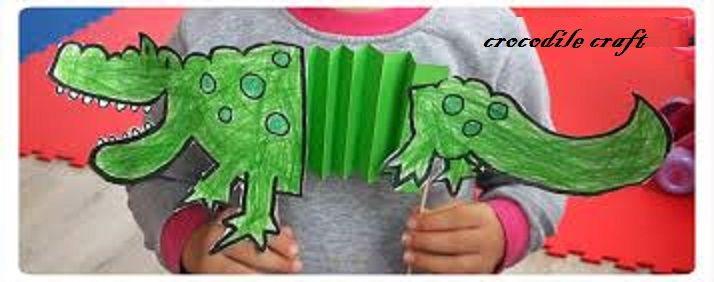 Crocodile Crafts Idea For Preschool Preschool And Kindergarten