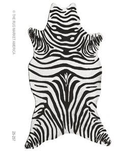 The Rug Market HOOK ZEBRA BLACK SHAPED 5X8SHAPED