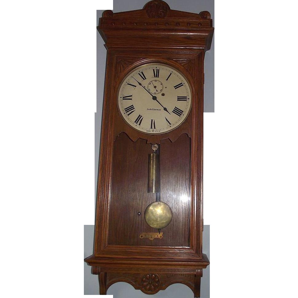 Rare original seth thomas model 30 wall regulator clock circa rare original seth thomas model 30 wall regulator clock circa 1909 amipublicfo Gallery
