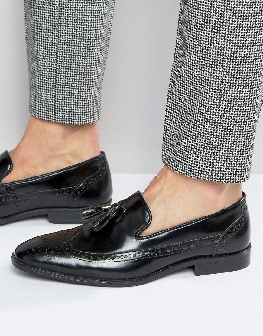 Men Trainers ASOS Brogue Loafers Leather With Tassel