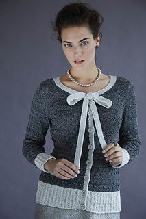 Stella #6 Bow Cardi from Vogue Knitting Holiday 2014 Stacy Charles Fine Yarns Tahki Stacy Charles