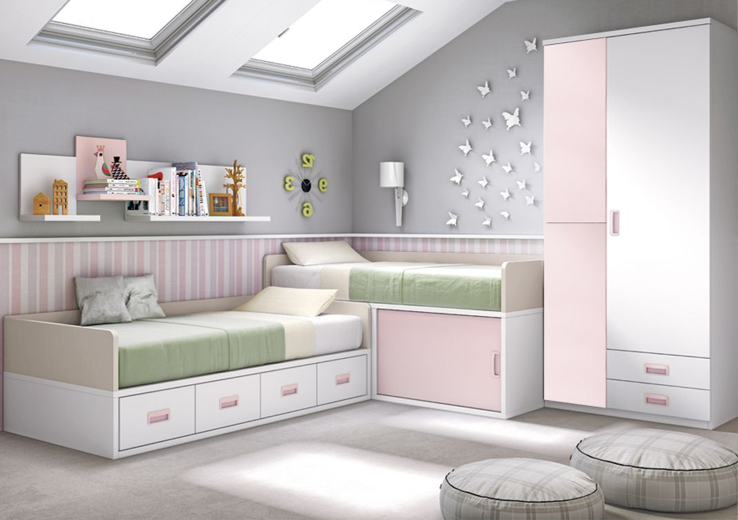 Consejos trucos e ideas para dormitorios peque os - Habitaciones juveniles ninas ...