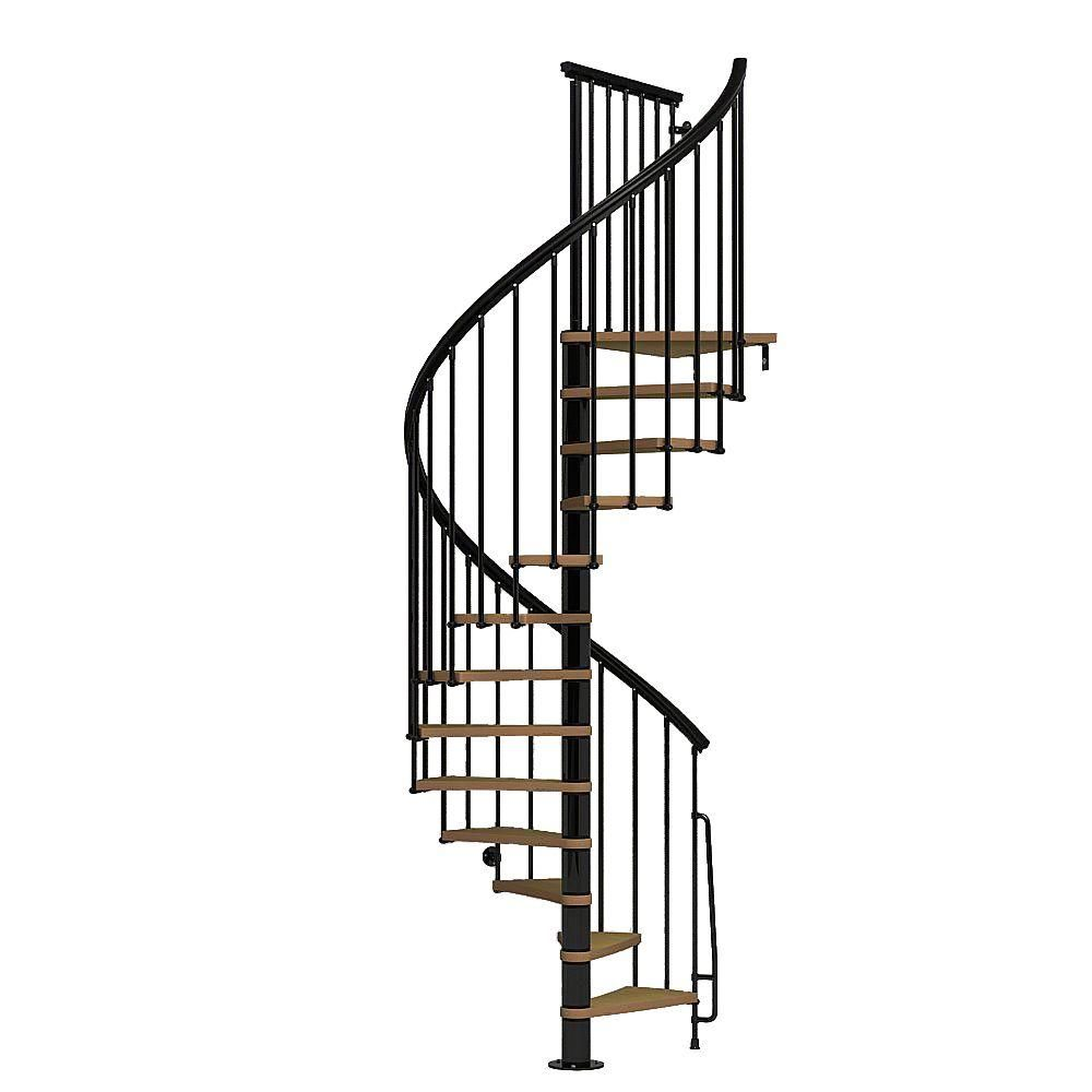 Best Arke Nice1 51 In Black Spiral Staircase Kit K50106 400 x 300