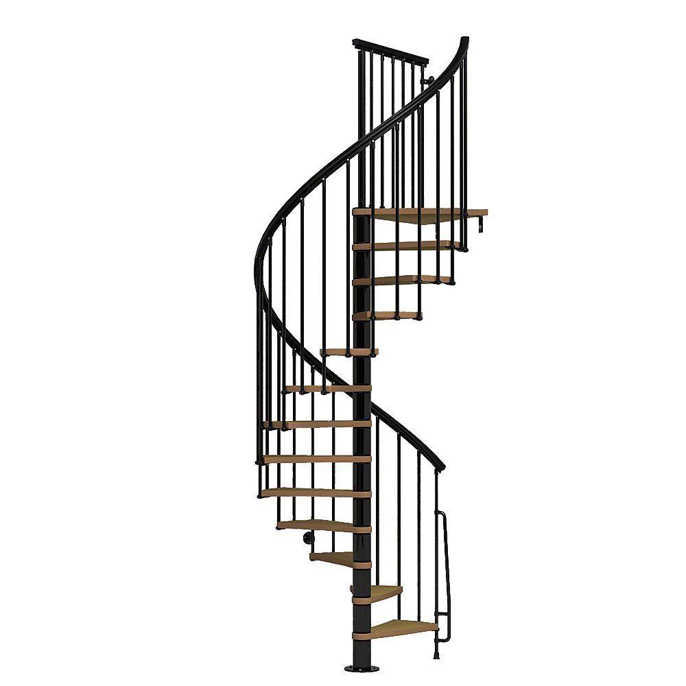 Best Arke Nice1 51 In Black Spiral Staircase Kit K50106 Spiral Staircase Kits Stair Kits Spiral 400 x 300